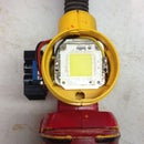 8000 lumen LED Dewalt flashlight mod