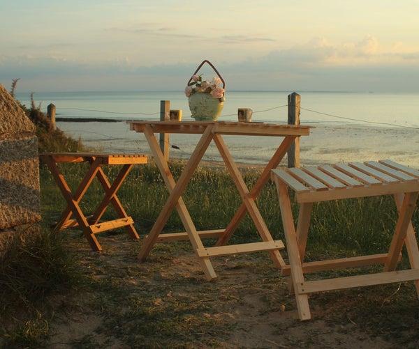 Easy & Elegant Pallet Wood Portable Picnic/Garden/Beach Furniture