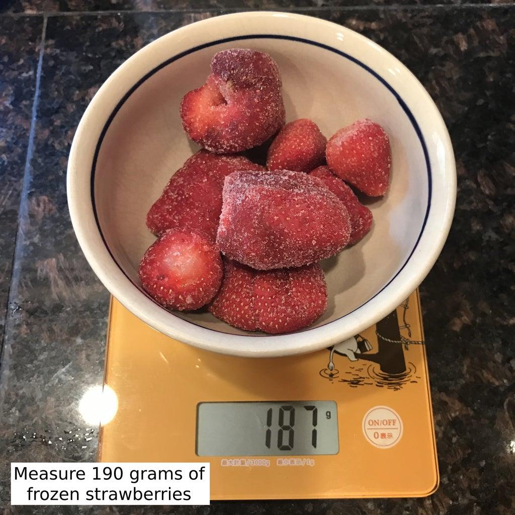 Making the Strawberry Gelatin
