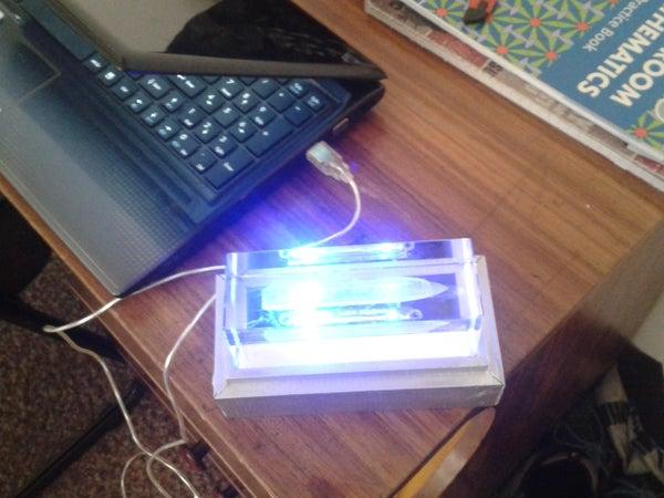 Blue Light Glass Model