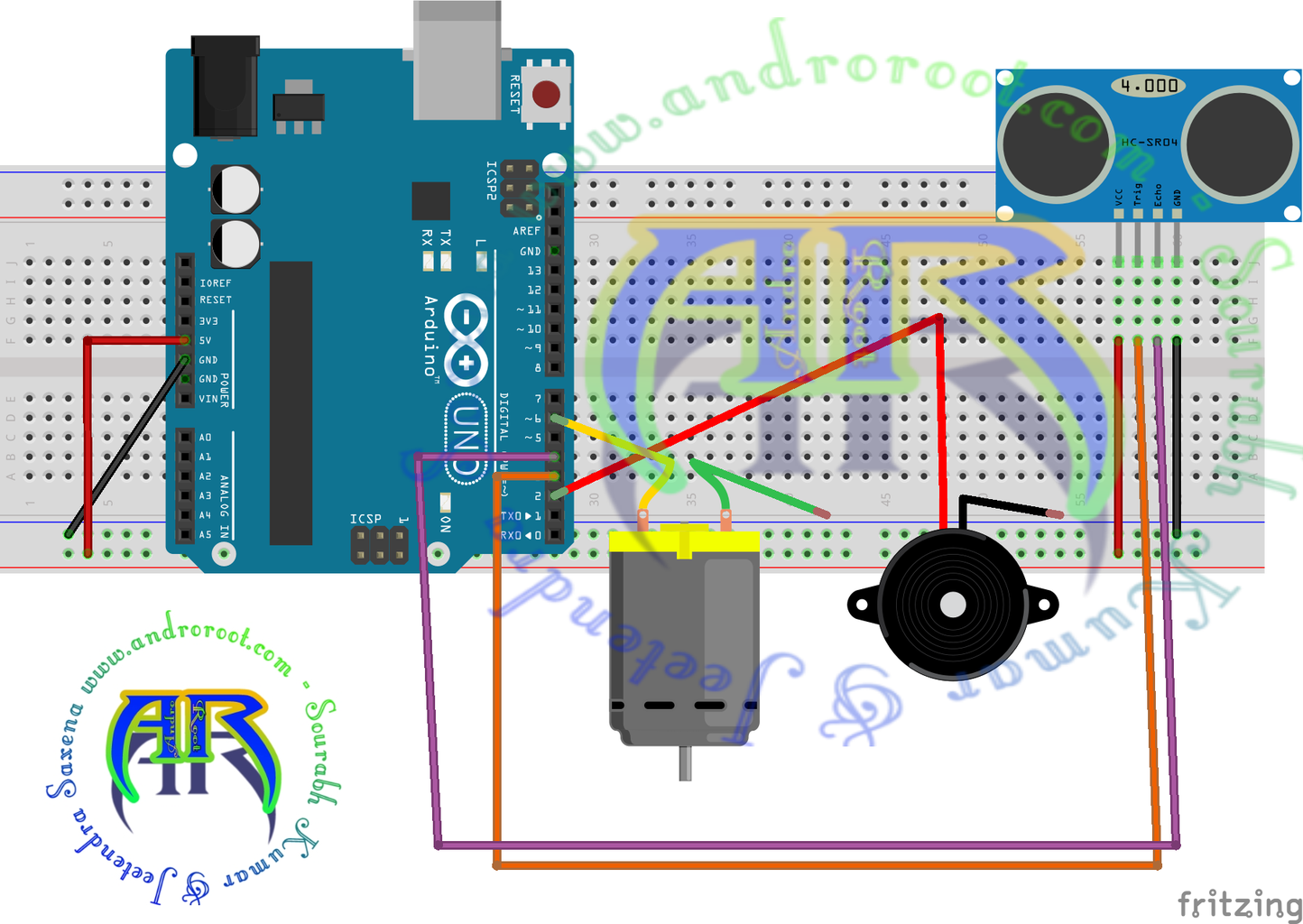 Circuit Diagram:- With Arduino