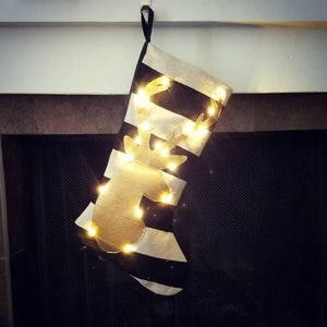Glowing Christmas Stocking With Fairy Lights