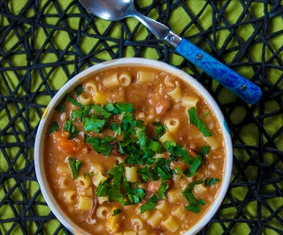 Italian Pasta and Bean Soup (Pasta E Fagioli)