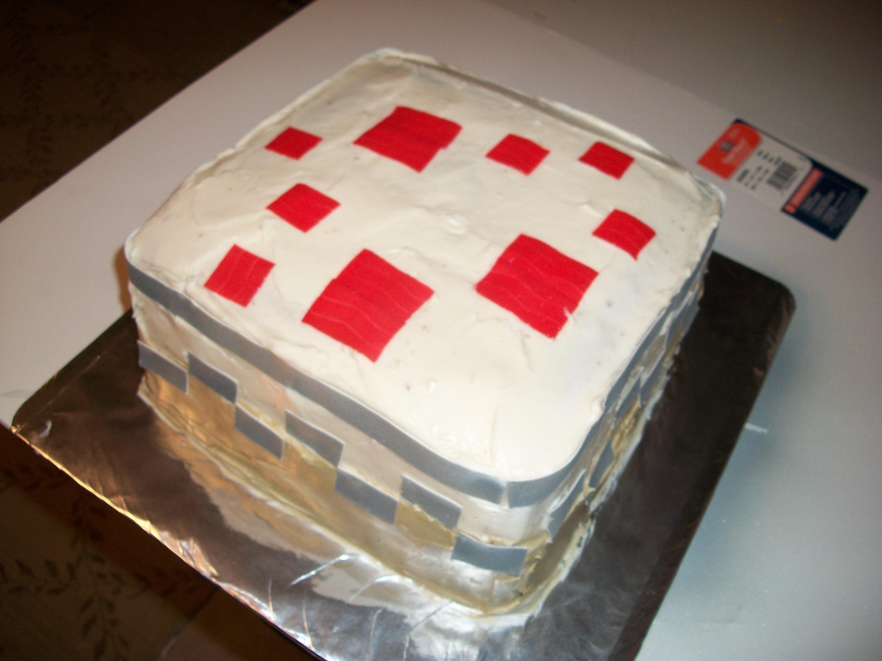 Make A Minecraft Cake
