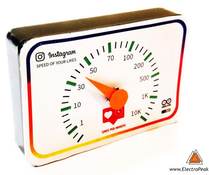 Instagram Likes Speedometer by Arduino & ESP8266