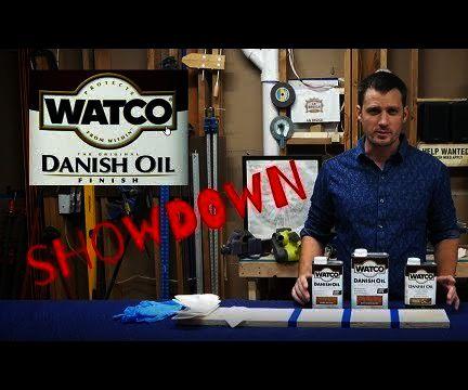 Danish Oil Color Tones