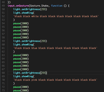 Programming the Lights