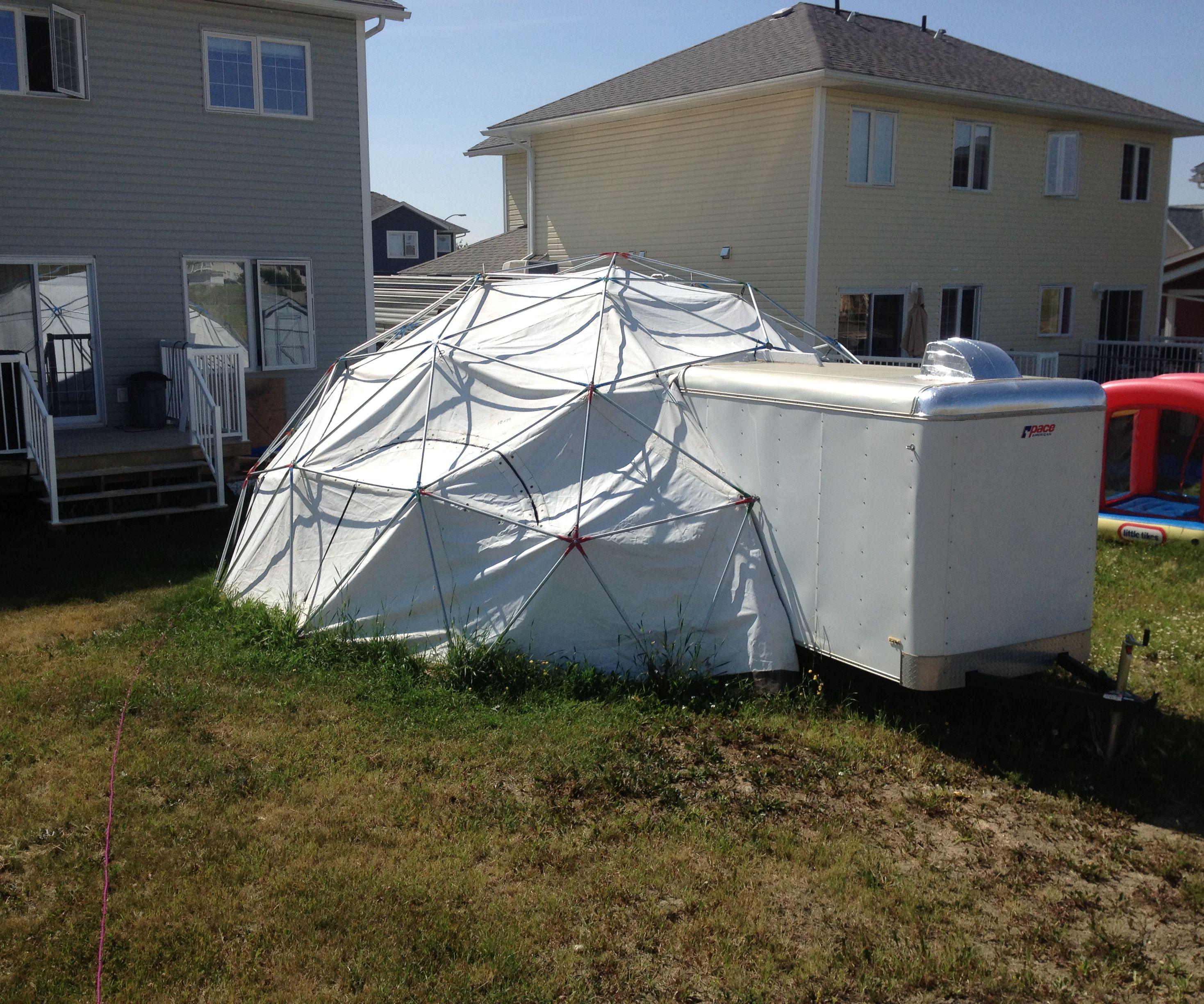 24 foot, 3V Geodesic EMT Dome