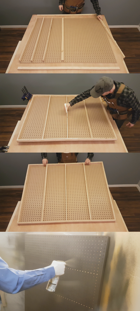 Making the Pegboard Frame