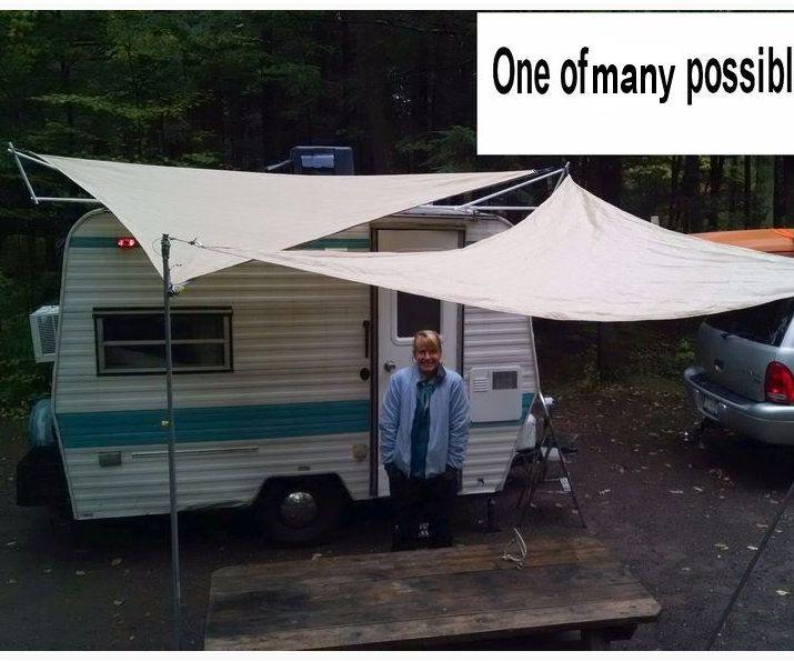 sun shade for travel trailer or rv, $70