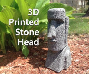 3D Printed Stone Head