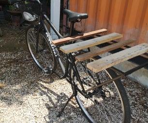 重载的自行车架