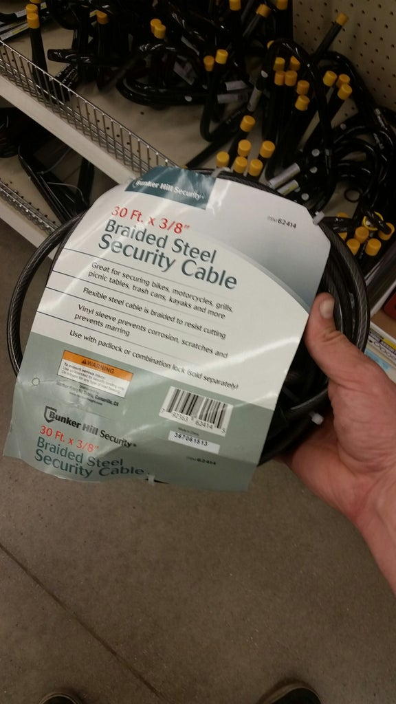 Right Cable, Right Lock, Right Job (Narrowed Down to 3)