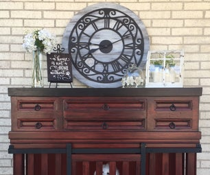 Dog Kennel Console Table (Reclaimed Materials)