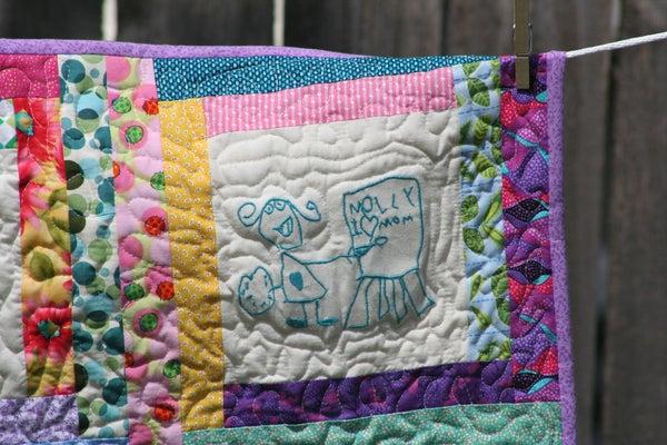 Children's Doodle Quilt