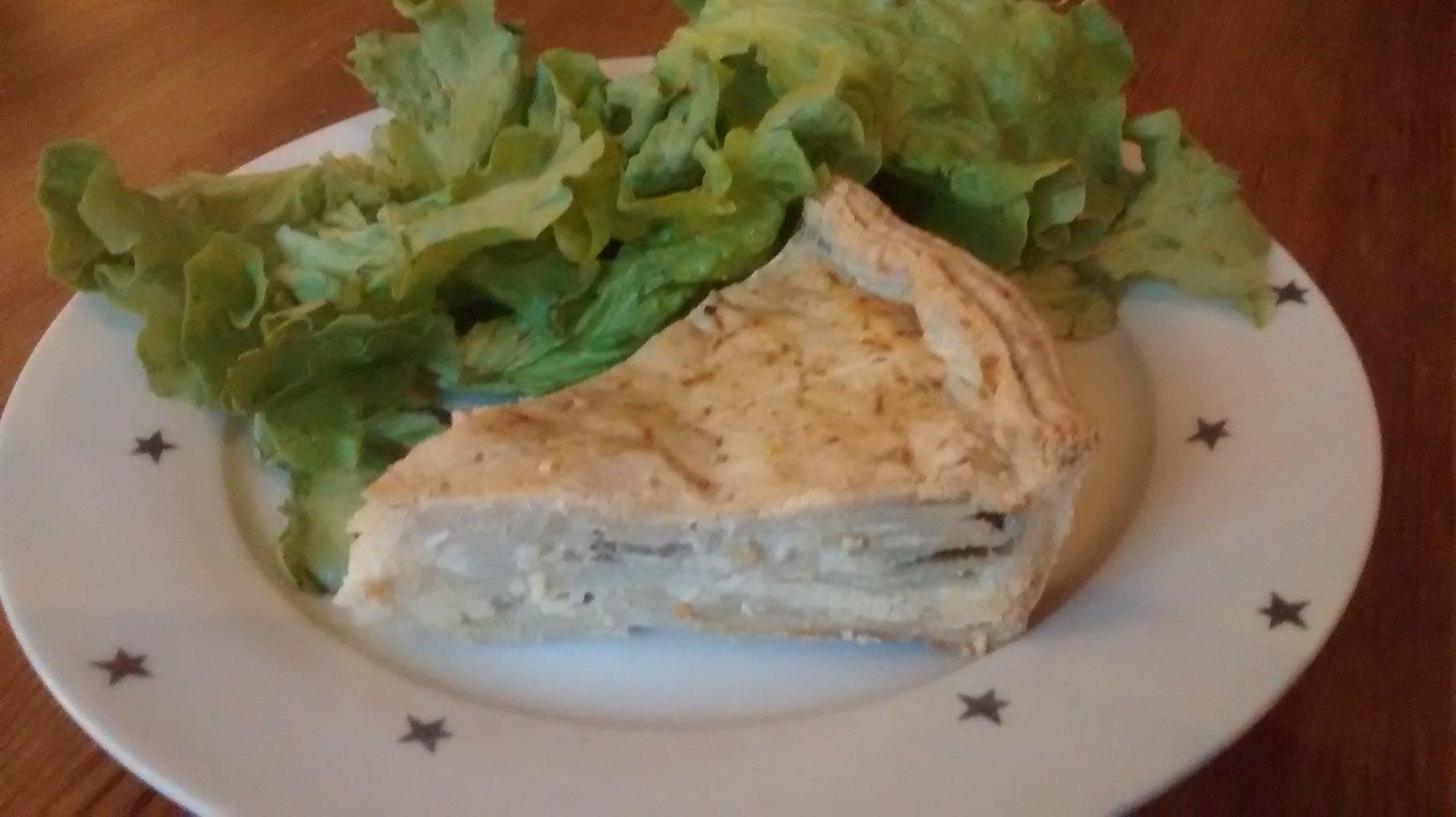 Potato, Cheese and Spring Onion Pie