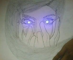 Blinking Blue Eye Girl