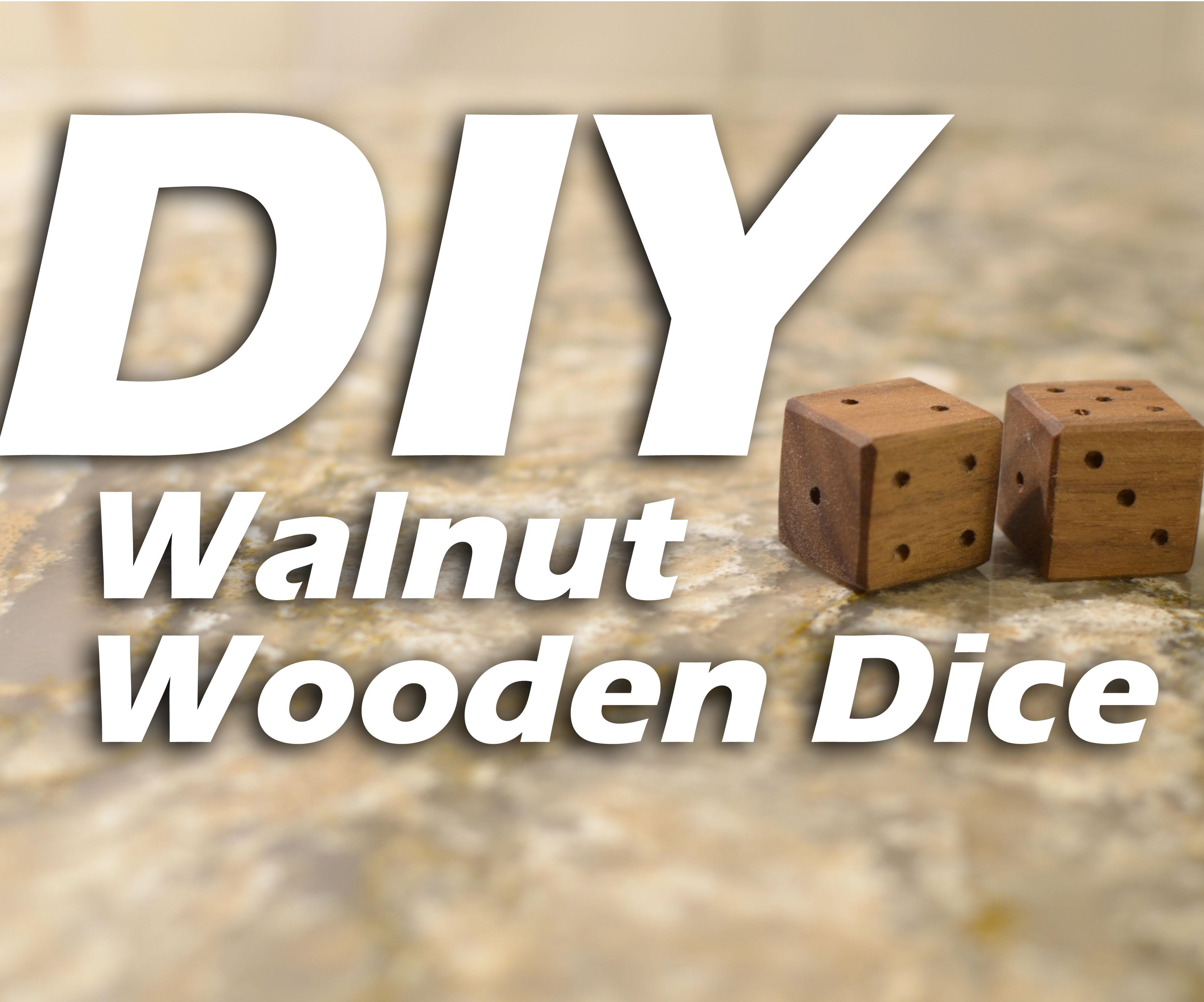 DIY Walnut Wooden Dice