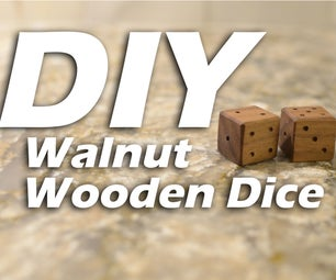 DIY Walnut Wooden Dice