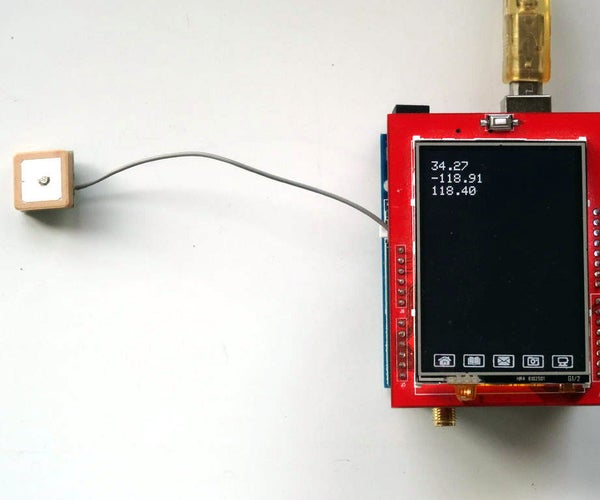 Arduino Uno and Visuino: GPS Location Display With GPS and TFT Touchscreen Display Shields