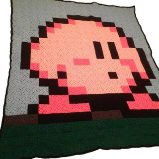 8-Bit Mario Blanket - Made From Granny Squares