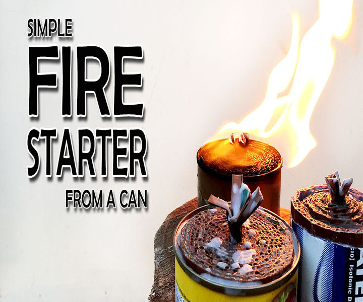 Simple fire starter from a tuna can(Video)