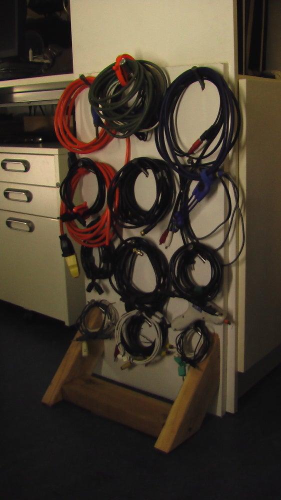 DIY Cord Rack