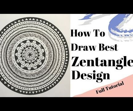 How to Draw the Best Complex Zentangle Design