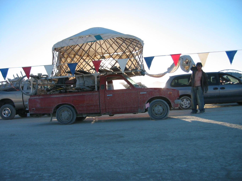 Yurt Vs. Traffic Jam