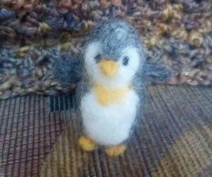 Cute Felted Penguin