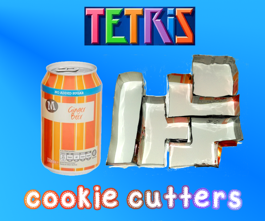 Turn drinks cans into Tetris cookie cutters
