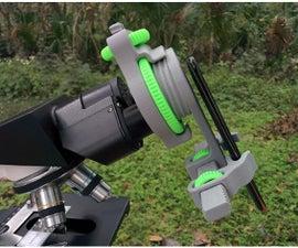 Universal Phone Mount/Adapter  for Microscope, Telescope, Binoculars