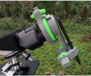 用于显微镜,望远镜,双筒望远镜的通用手机安装/适配器