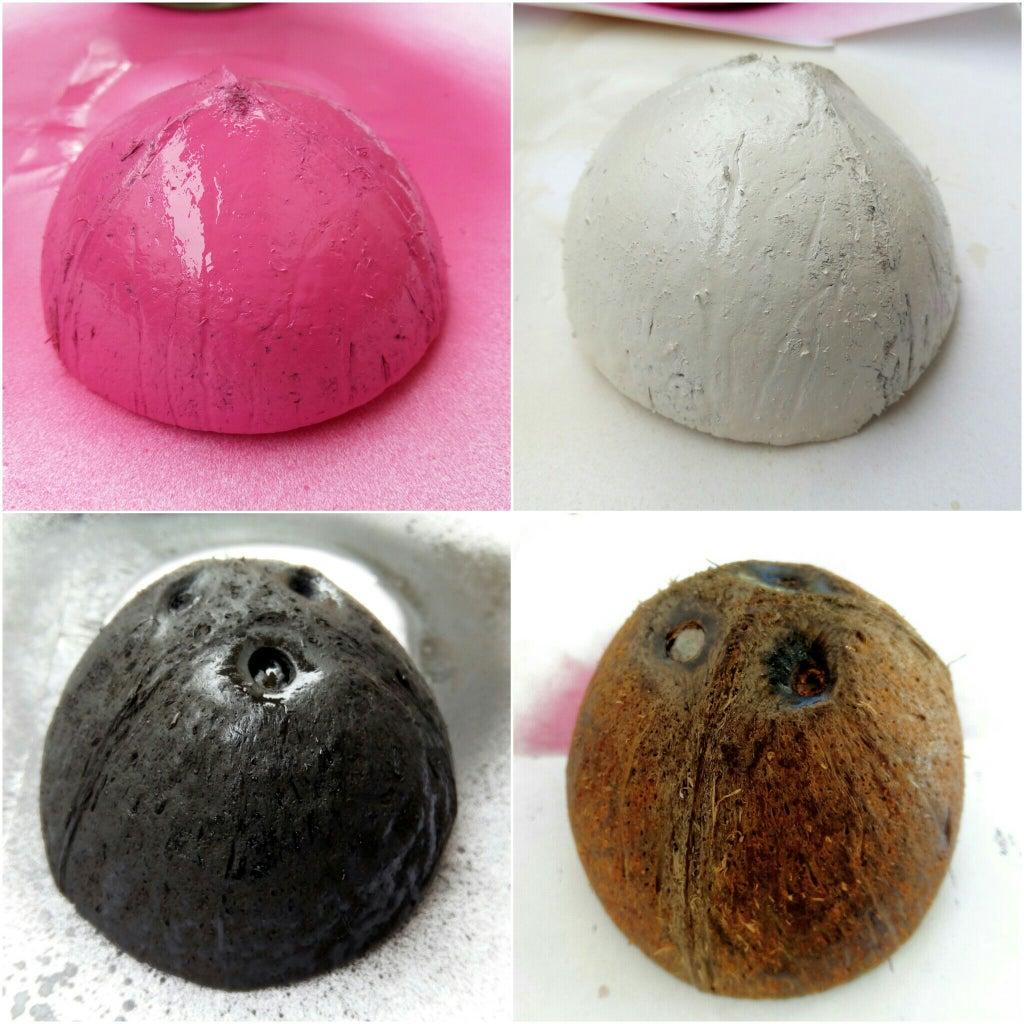 Dyeing Coconat Shells