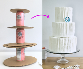 Fake Prop Cake From Cardboard & Soda Cans