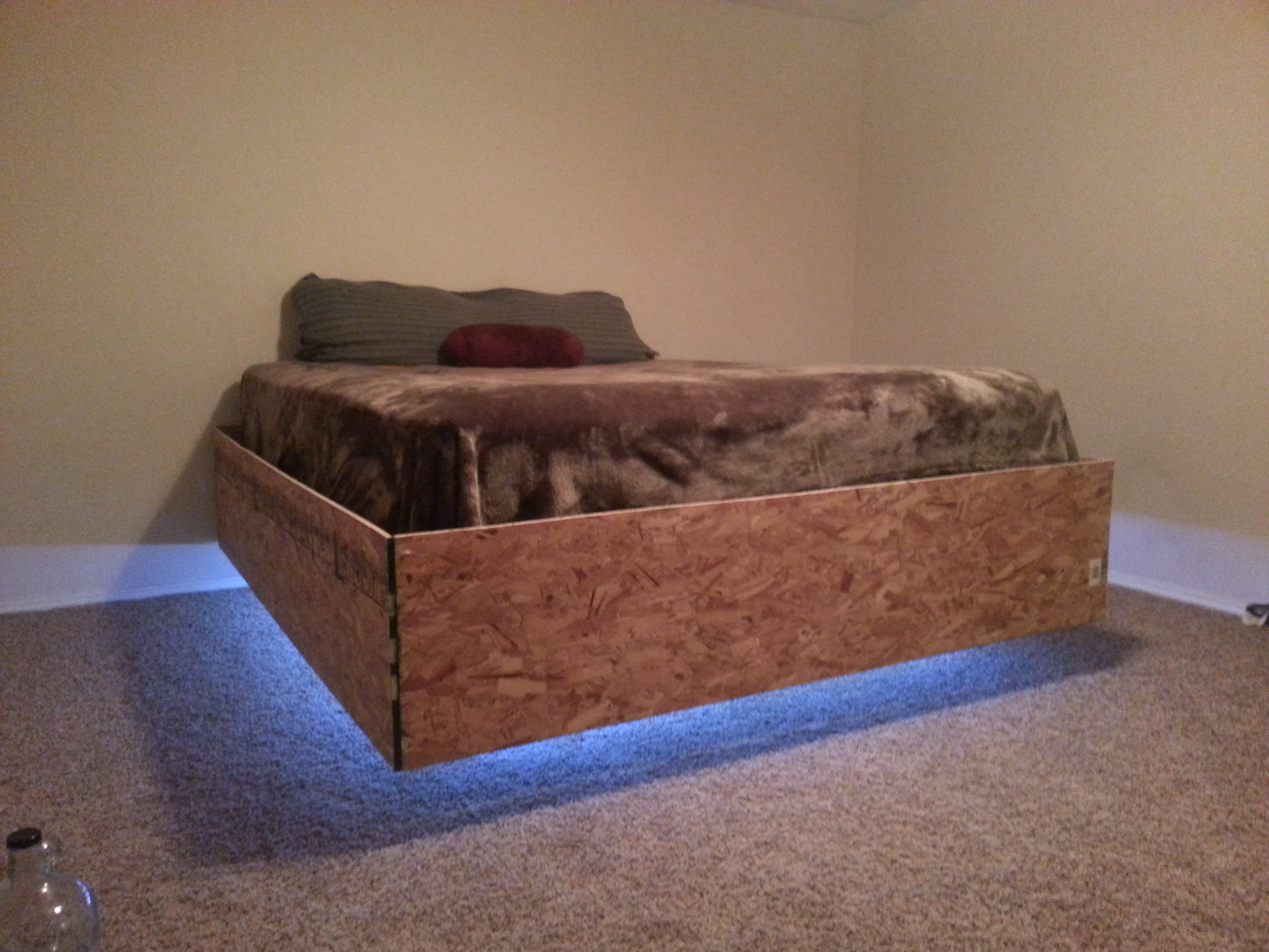 Floating Bed 4 Steps With Pictures Instructables