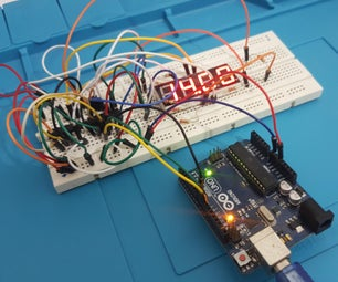 How to Drive 4-Digits Seven Segment With Arduino Using Just 3 Pins