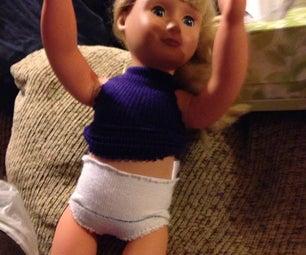 Easy No-Sew Doll Panties