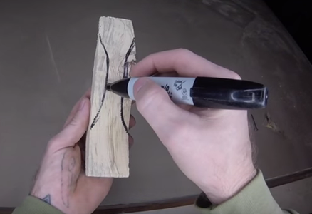 DRAWING AND CUTTING THE HANDLE