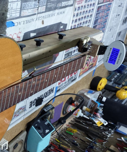 Simulate Guitar String Tension for Fret Work
