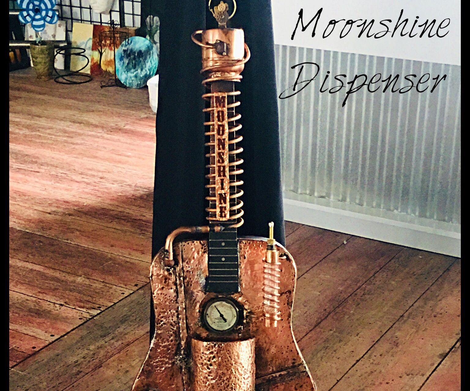 Guitar Art( Moonshine Dispenser)