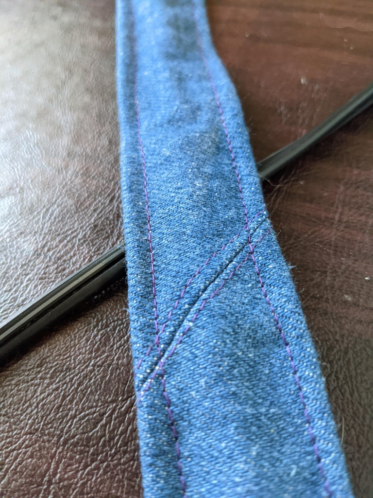 To Make a Long Strap You Might Need to Join Two Strips of Fabric Together.