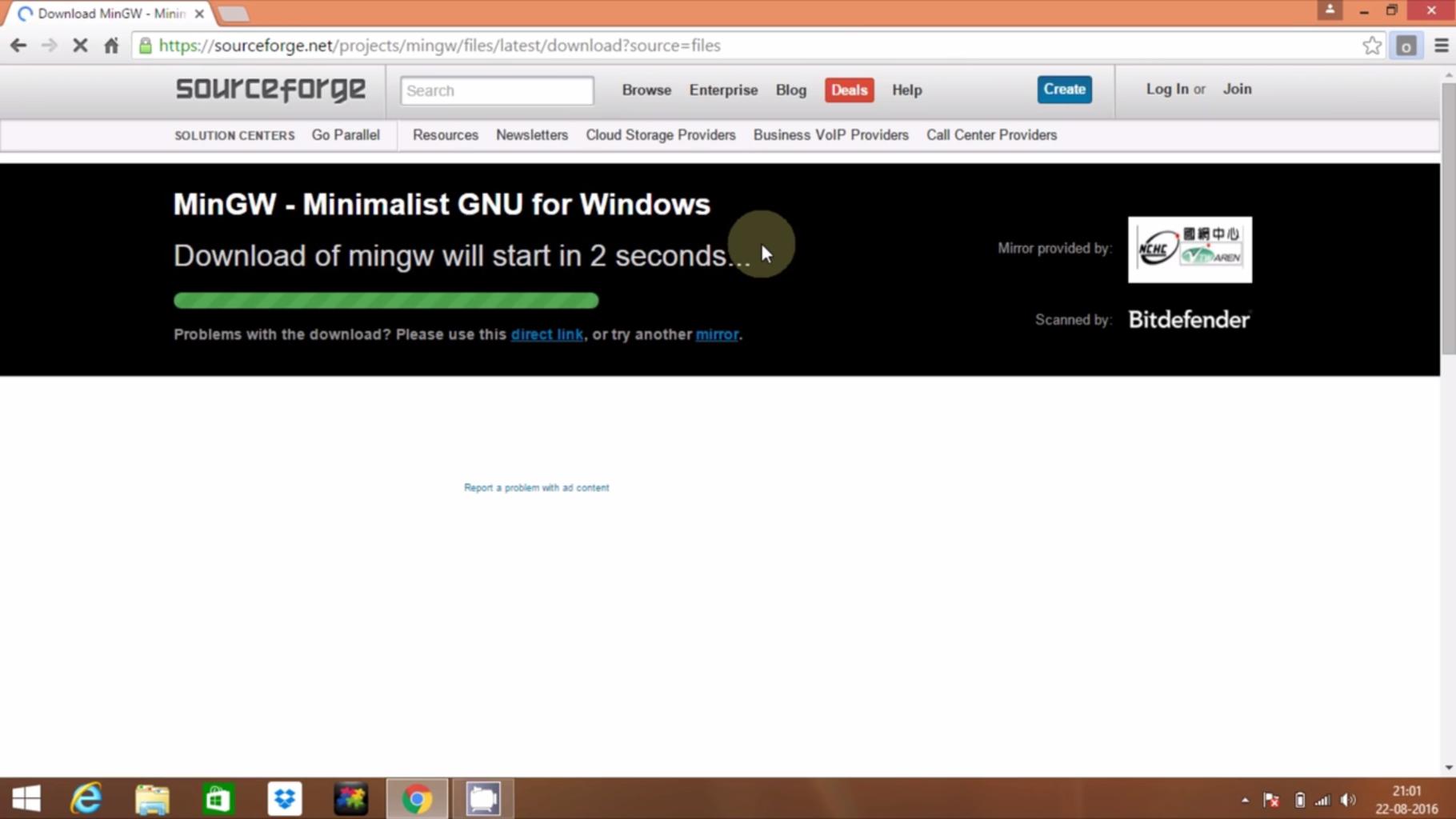 Download MinGW Package Installer