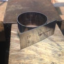 Ring from Stainless Steel Ruler