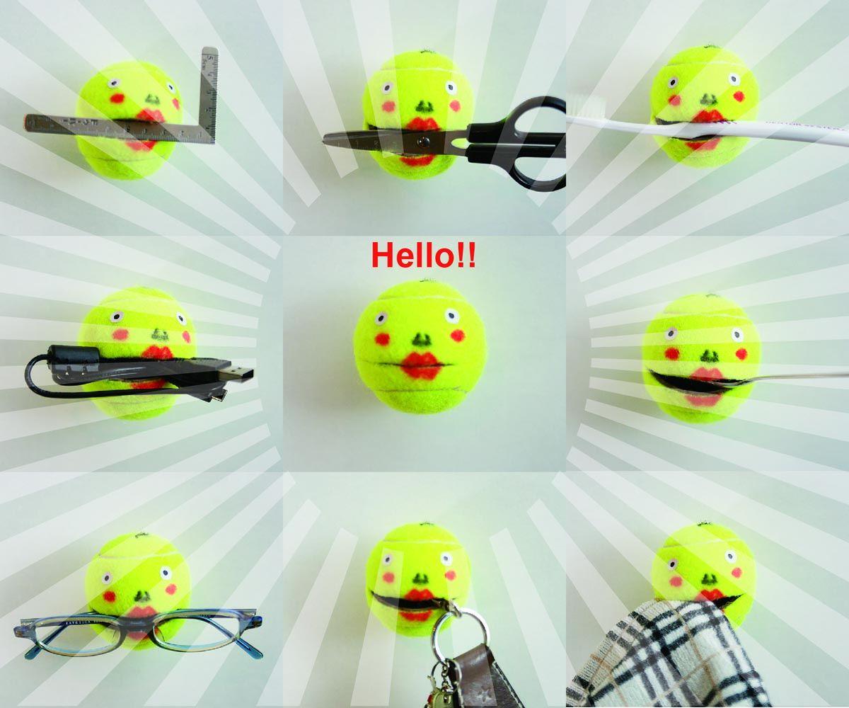 How to make a tennisball-hook!