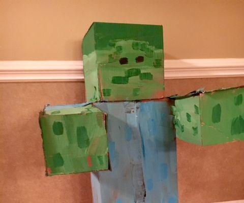 Minecraft Zombie Target (Life Size)