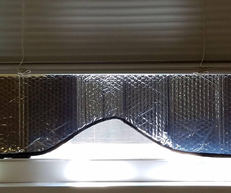Repurpose a Car Sun Shade for a Window