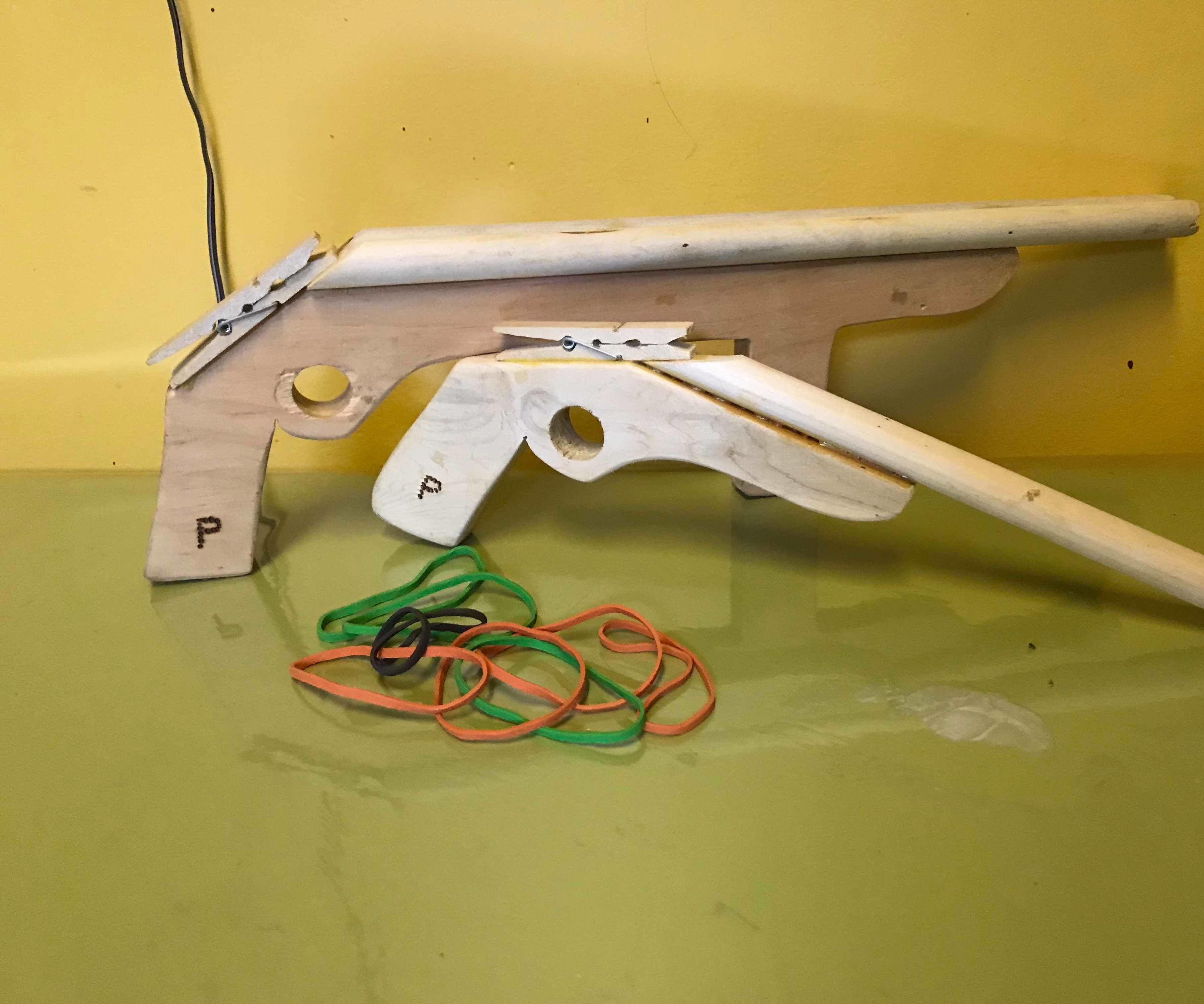 Rubber Band Toy Gun