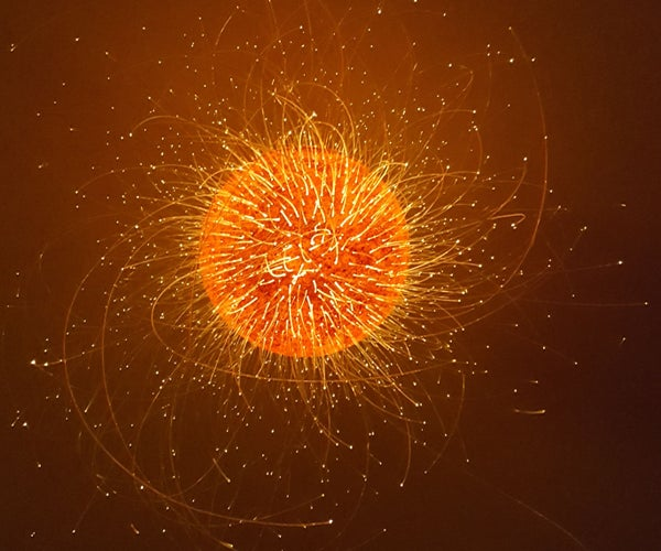 Exploding Sun Lamp Design