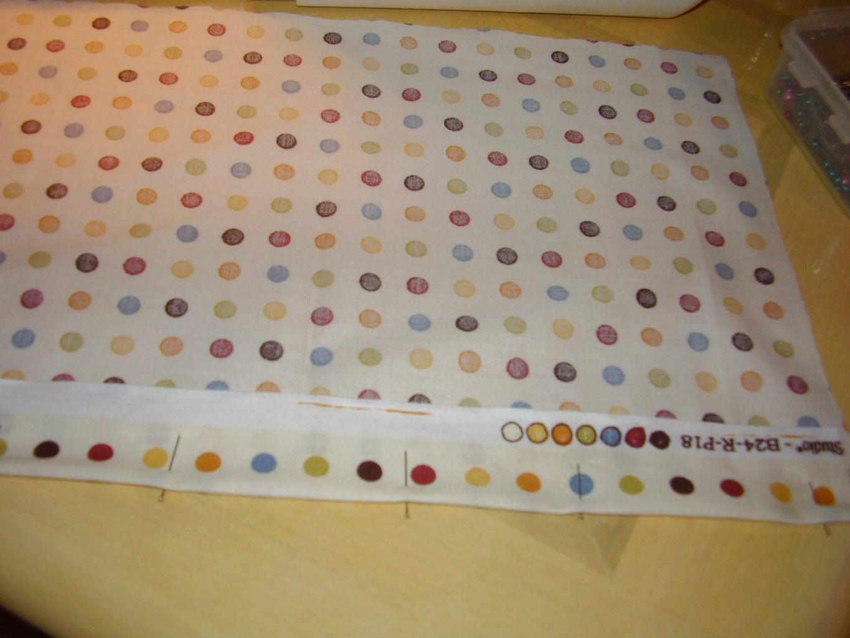 Cut Fabric, Pin & Sew Hem